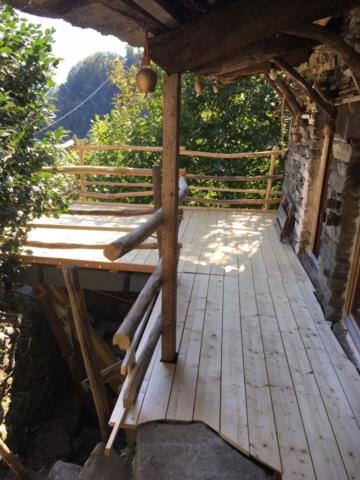 Erstellung Holzterrasse